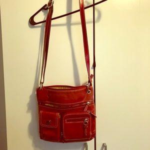A Giani Bernini red satchel bag